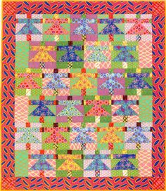 Quilt Pattern: Paper Dolls Designed by: Brandon Mably Pattern available in Kaffe Fassett's Quilt Grandeur book
