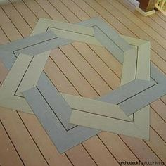 Bring-on-the-bold with deck boards | Customized patterns are unique and, if built right, impressive.  Consider an inlay, parquet, herringbone or chevron layout.
