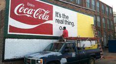 1} Coca-Cola Murals Make a Comeback | Artist Andy of the Coca-Cola Ghost Sign Mural Restoration Project restores a mural in Salisbury, North Carolina