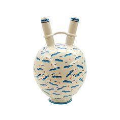 Ceramica Gatti 1928 White Vase With Gulls by Ugo La Pietra (£1,310) ❤ liked on…