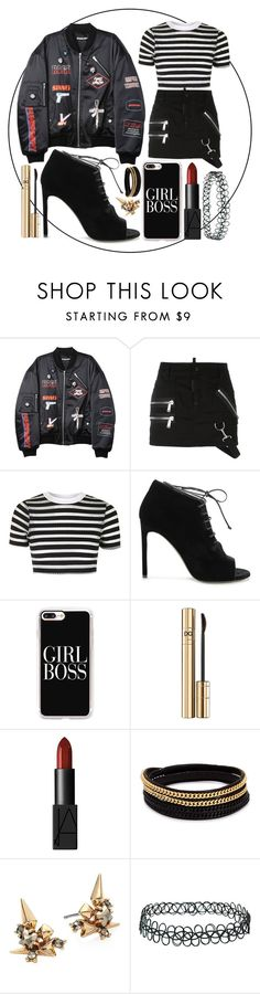 """""""Untitled #518"""" by clothyoulike ❤ liked on Polyvore featuring Hyein Seo, Dsquared2, Topshop, Yves Saint Laurent, Casetify, Dolce&Gabbana, NARS Cosmetics, Vita Fede and Alexis Bittar"""