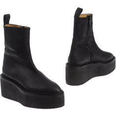 DAMIR DOMA Ankle boots - Item 44432782 ($695) ❤ liked on Polyvore featuring shoes, boots, ankle booties, ankle boots, leather ankle booties, leather zipped booties, zipper booties, zipper ankle boots and bootie boots