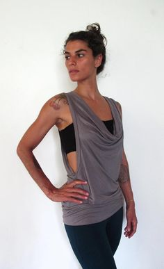 Scoop neck vest dress Yoga clothes dance yoga by Kayayogawear