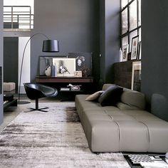 Tufty-Time Modular Sofa Comp A in Leather by B Italia - Patricia Urquiola