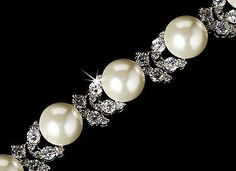 Bridal Jewelry 163552: Cubic Zirconia Rhinestone And Faux Pearl Bridal Bracelet -> BUY IT NOW ONLY: $64.95 on eBay!