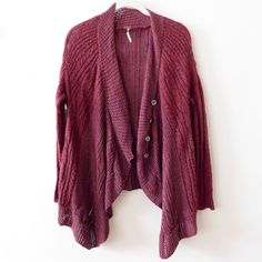 Free People Waterfall Button Cardigan In very good-used condition, minor signs of wear include: a couple of small pulls, and minor piling from gentle wear {last photo}. But there is still plenty of life left in this beauty! Size XS, but Free People tends to fit oversized. Smoke/pet free home. Ask all questions before buying! NO trades ❌ bundle for a discount  •modeled photo coming soon• Free People Sweaters Cardigans