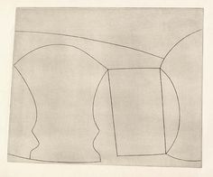 Ben Nicholson - two goblets and a mug (1967) etching on paper