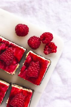 Malinové cheesecake brownies – Máslová brioška Cheesecake Brownies, Cheesecakes, Philadelphia, Panna Cotta, Raspberry, Deserts, Fruit, Ethnic Recipes, Food
