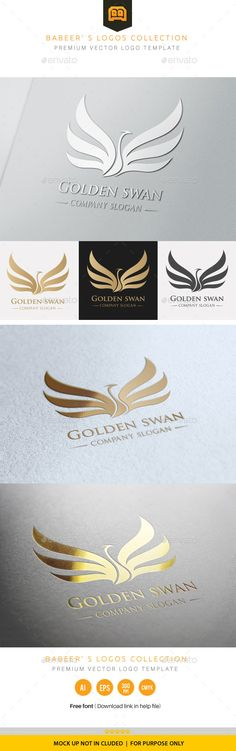 Golden Swan Logo Template #design Download: http://graphicriver.net/item/golden-swan/9773869?ref=ksioks