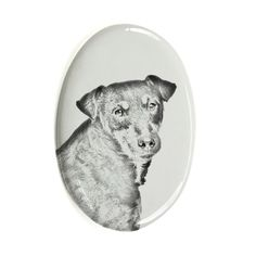 Jagdterrier, oval gravestone from ceramic tile with an image of a dog >>> You can get more details by clicking on the image. (This is an affiliate link and I receive a commission for the sales) #MyDog
