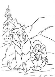 brother bear 2 coloring pages - photo#9
