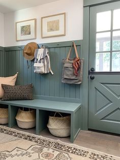 Evergreen House: Mudroom Reveal (and Our Favorite Moody Paint Colors!) - Juniper Home Fresh Farmhouse, Cottage Farmhouse, Cozy Cottage, Farmhouse Ideas, Farmhouse Chic, Cottage Homes, Evergreen House, Casa Top, Mudroom Laundry Room