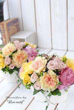 母の日のお花・・たくさんのご注文ありがとうございました! の画像 プリザーブドフラワー専門ショップ *Bon-motif* ボンモチーフ