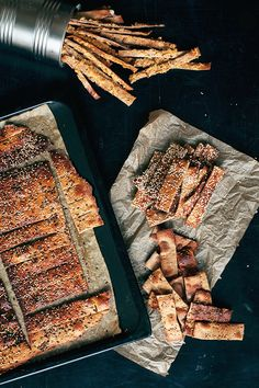 Crispy Rye Crackers with mixed seeds. Perfect for healthy snacking… Savoury Biscuits, Savory Muffins, Savoury Baking, Savory Snacks, Healthy Snacks, Flour Recipes, Bread Recipes, Snack Recipes, Cooking Recipes