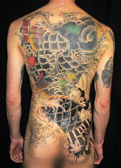 Tatuaggi giapponesi: l'arte tradizionale? E' Wabori, un tatuaggio pulito e bello