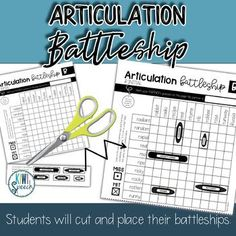 NO-PREP Articulation Battleship Game for Speech Therapy: Get lots of practice with articulation sounds at the single word, phrase, and sentence level with this battleship game for speech therapy. This articulation activity is perfect for speech therapy mixed groups! - Kiwi Speech