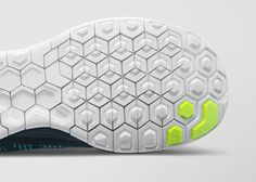 Introducing the Nike Free 2014 Collection which features hexagonal flex grroves, an anatomical shape and new flyknit technologies. Nike Outfits, Nike Air Max, Motifs Textiles, Nike Free Flyknit, Nike Free Runners, Nike Shoes Cheap, Cheap Nike, Texture Design, Textures Patterns