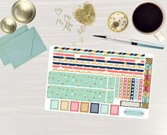 Pinning so I don't forget!! Remember to go back and check out Crafted By Corley on Etsy. Glitz and Glamour - Transform My Planner Erin Condren Horizontal Life Planner Sticker Sticker Set Weekly View Sticker Horizontal Planner by CraftedByCorley