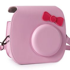 CAIUL Bow-knot Case for Fujifilm Instax MINI 7s Instant Film Camera and Polaroid PIC-300 (Pink)