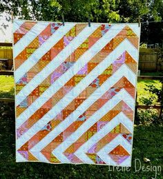 Quilt made for my new girl #quilt #half square triangles #baby
