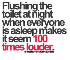 Flushing Toilet At Night #humor #lol #funny