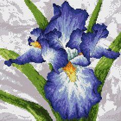 garden flowers iris cross stitch kit by bothy threads