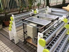 The Solar-powered HydroPro (Hydroponic System) just installed at Pentecostal Lam Hon Kwong School, ready for hydroponics training. 剛設置在「五旬節林漢光中學」的太陽能推動水耕系統