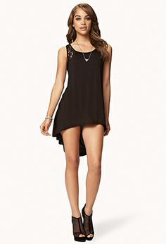 Lace Back High-Low Top   FOREVER21 - 2054977747 $13.80
