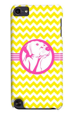 Yellow Chevron and Pink Dog More It's A Lab Thing iphone cases on 3 Shades of Dog!