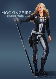 Bobbi Morse is Mockingbird - Marvel Hq Marvel, Marvel Dc Comics, Marvel Heroes, Marvel Cinematic, Hawkeye Marvel, Captain Marvel, Captain America, Marvel Women, Marvel Girls