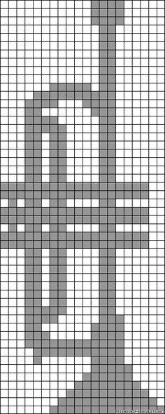 Trumpet perler bead pattern