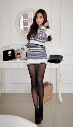 The beauty of legs in pantyhoes,tights &stockings