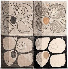 Dora Jung - The Shells, 1957 tapestry. Finland