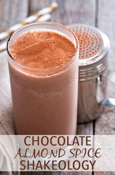 Almond butter, maple syrup, and just a little bit of warming cinnamon make this Chocolate Shakeology recipe perfect for a dessert, snack, or even breakfast. // beachbody // beachbody blog