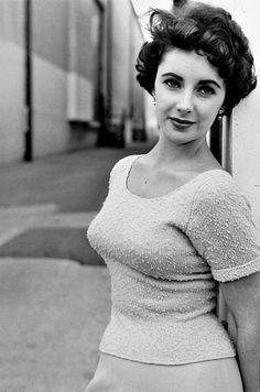 "Elizabeth Taylor on the set of ""A Place in the Sun"", 1950"