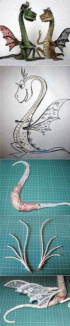 Как сделать дракона из папье-маше / Мастер-класс