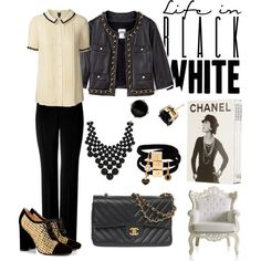 Life in Black and White, created by patricia-teixeira on Polyvore