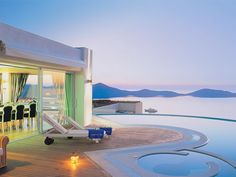 Elounda Gulf Villas & Suites 5 Stars luxury hotel villa in Elounda Offers Reviews Hotels And Resorts, Best Hotels, Rooftop Restaurant, Fine Hotels, Gym Room, Relaxing Day, Luxury Accommodation, Private Pool, Jacuzzi