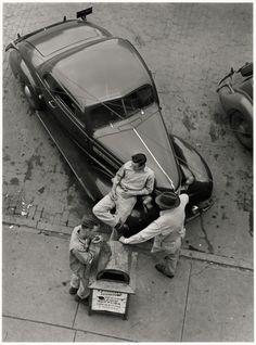 Harold Corsini, Street Scene, Cushing, Oklahoma, 1943-50
