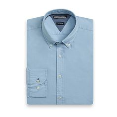 Tommy Hilfiger men's shirt. Woven from ultra light cotton then garment dyed for exceptional softness and a fit that stays true, we present our newest iteration of our best-selling shirt. <br>• New York fit (our slimmest fit).<br>• 100% cotton. <br>• Button-down collar.<br>• Machine washable.<br>• Imported.<br>