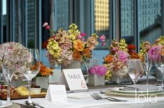Modern Spring Centerpieces at Terzo Piano, The Modern Wing of the Art Institute