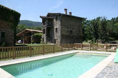 Vista de la casa,desde la piscina