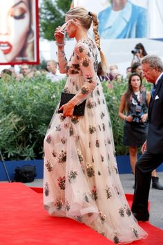 Venice Film Festival 2015: what they're wearing : Laura Bailey in Valentino