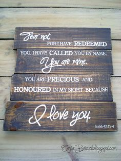Images of wood signs bible verses Bible Verse Signs, Scripture Verses, Scriptures, Pallet Crafts, Wood Crafts, Wooden Projects, Pallet Projects, You Are Precious, Crafts To Make