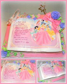 Princess Story Book - Cake by Day Disney Princess Birthday Cakes, Princess Tea Party, Princess Cakes, Dance Party Birthday, Birthday Cake Girls, Third Birthday, Birthday Ideas, Professional Cake Decorating, Princess Stories