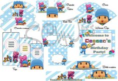 Pocoyo Party Printable di SCbyJess su Etsy