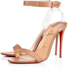 Christian Louboutin United States Official Online Boutique - JONATINA 100 Nude/Transp Leather available online. Discover more Women Shoes by Christian Louboutin Christian Louboutin Heels, Louboutin Shoes, Heels Quotes, Spring Shoes, Fashion Quotes, Womens High Heels, Leather Heels, Girls Shoes, Girls Footwear
