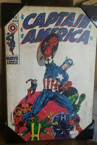 Captain America #111 Marvel Comics Silver Buffalo Wood Wall Decor ...