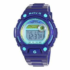 Casio Women's BLX100-2 Baby-G Multi-Function Digital Blue Resin Sport Watch Casio. $109.99. Tide graph; World time (29 time zones and 48 cities); Multi alarms. Water-resistant to 660 feet (200 M). 1/100th second stopwatch; Countdown timer. 12/24 hour format; Mute function. Baby-G shock resistant blue resin case with light blue accents and buckle closure