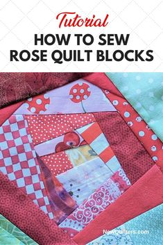 Turn fabric scraps into beautiful quilted flowers with a sew-and-flip piecing technique easy enough for beginning quilters to master. Tutorial from NewQuilters.com. #easyquiltblocks #foundationpiecing #rosequiltblock #quiltingforbeginners Machine Quilting Patterns, Paper Piecing Patterns, Quilt Block Patterns, Scrappy Quilts, Easy Quilts, Origami Quilt Blocks, Fabric Origami, Flower Quilts, Small Sewing Projects